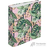 Папка-регистратор Attache Selection Flamingo Jungle 75 мм розовая/зеленая