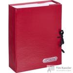 Папка архивная Attache А4 из бумвинила красная 70 мм (складная, 2 х/б завязки, до 700 листов)