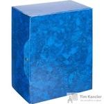 Папка архивная Attache на кнопке 150 мм синий мрамор ламинированный картон