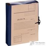 Папка архивная Attache Дело А4 из бумвинила синяя 80 мм (складная, 4 х/б завязки, до 600 листов)