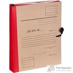Папка архивная Attache Дело А4 из бумвинила красная 50 мм (складная, 4 х/б завязки, до 350 листов)