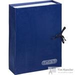 Папка архивная Attache А4 из бумвинила синяя 70 мм (нескладная, 2 х/б завязки, до 700 листов)