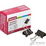 Зажимы для бумаг Attache Economy 15 мм черные (12 штук в коробке)