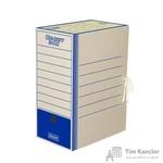 Короб архивный картон синий 325x260x150 мм