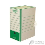 Короб архивный картон зеленый 325x260x150 мм