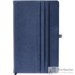 Ежедневник недатированный Boncarnet Alicante искусственная кожа А5 190 листов синий (150x210 мм)