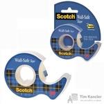 Клейкая лента канцелярская 3M Scotch 183 невидимая 19 мм х 16.5 м (с диспенсером)