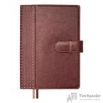 Ежедневник полудатированный Escalada искусственная кожа А5+ 192 листа коричневый (165x240 мм)