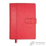 Ежедневник полудатированный Escalada искусственная кожа А5+ 192 листа красный (бордовый обрез, 165x240 мм)