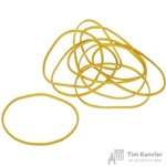 Резинка банковская универсальная 500 г (диаметр 60 мм, толщина 1.5 мм, желтая)