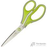 Ножницы Attache Selection 210 мм с пластиковыми анатомическими ручками салатового/серого цвета