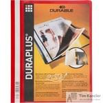 Папка-скоросшиватель Durable Duraplus A4+ красная (толщина обложки 0.16 мм)