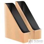 Вертикальный накопитель Attache Loft HDF картонный бурый/черный ширина 70 мм (2 штуки в упаковке)