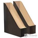 Вертикальный накопитель Attache Loft HDF картонный черный/бурый ширина 70 мм (2 штуки в упаковке)