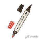 Маркер для досок двусторонний Attache Double черный/красный 1-3мм