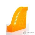 Вертикальный накопитель Attache Яркий Офис пластиковый тонированный оранжевый ширина 95 мм