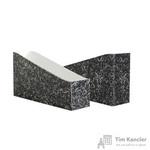 Вертикальный накопитель Attache Мрамор картонный черный ширина 75 мм (2 штуки в упаковке)