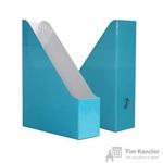 Вертикальный накопитель Attache Selection Flamingo картонный голубой ширина 75 мм (2 штуки в упаковке)