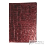 Телефонная книга Attache Croco искусственная кожа А6 56 листов бордовая (85х130 мм)