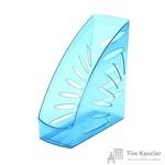 Вертикальный накопитель Attache Selection Flamingo пластиковый прозрачный голубой ширина 110 мм