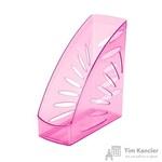 Вертикальный накопитель Attache Selection Flamingo пластиковый прозрачный розовый ширина 110 мм
