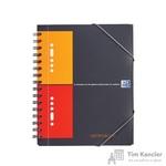 Бизнес-тетрадь Oxford Meetingbook А5+ 80 листов цветная в клетку на спирали (186x210 мм)