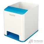 Подставка для ручек и смартфона Leitz Wow синяя/белая (с усилением звука)