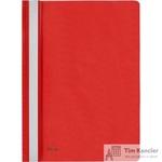 Папка-скоросшиватель Комус А4 красная (толщина обложки 0.13 мм и 0.18 мм)