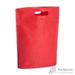 Сумка для покупок спанбонд красная (25.5x29x10 см)