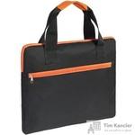 Конференц-сумка полиэстер черная/оранжевая (38x30x2 см)