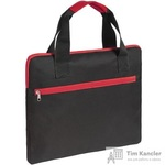 Конференц-сумка полиэстер черная/красная (38x30x2 см)