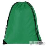 Рюкзак-мешок полиэстер зеленый (34x45x1 см)