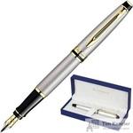 Уценка Ручка перьевая Waterman Expert цвет чернил синий цвет корпуса серый