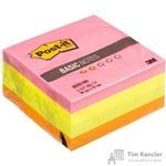 Стикеры Post-it Basic 76х76 мм неоновые 4 цвета (1 блок, 400 листов)
