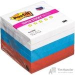 Стикеры Post-it Super Sticky Триколор 76x76 мм неоновые 3 цвета (6 блоков по 90 листов)
