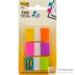 Клейкие закладки Post-it пластиковые 23.8x43.2мм 6 цветов по 10 листов в диспенсере