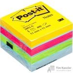 Стикеры Post-it Original 51х51 мм неоновые 5 цветов (1 блок, 400 листов)