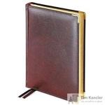 Ежедневник полудатированный Bruno Visconti Imperium натуральная кожа А5 208 листов коричневый (золотистый обрез, 145x216 мм)