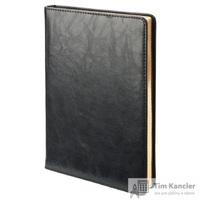 Ежедневник датированный на 2019 год InFolio Atrium искусственная кожа А5 176 листов черный (золотистый обрез, 140x200 мм)