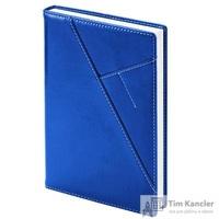 Ежедневник датированный на 2019 год InFolio Portland искусственная кожа A5 176 листов синий (140х200 мм)