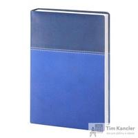 Ежедневник датированный на 2019 год InFolio Patchwork искусственная кожа A5 176 листов синий (140х200 мм)