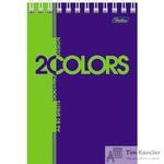 Блокнот Hatber 2COLORS А6 80 листов цветной на спирали (100х150 мм, 5 штук в  упаковке)