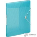 Папка на резинках (бокс) Esselte Colour'Ice пластиковая синяя (0.5 мм, до 200 листов)