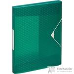 Папка на резинках (бокс) Esselte Colour'Ice пластиковая зеленая (0.5 мм, до 200 листов)