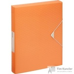 Папка на резинках (бокс) Esselte Colour'Ice пластиковая оранжевая (0.5 мм, до 300 листов)