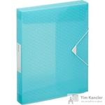 Папка на резинках (бокс) Esselte Colour'Ice пластиковая синяя (0.5 мм, до 300 листов)