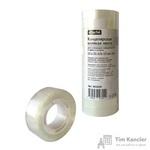 Клейкая лента канцелярская Attache прозрачная 12 мм х 21 м (12 штук в упаковке)
