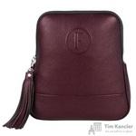 Рюкзак женский Fabula из натуральной кожи бордового цвета (S.141/1(F).BK)
