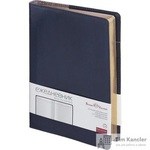 Ежедневник полудатированный Bruno Visconti Profy натуральная кожа А5 208 листов синий (золотистый обрез, 152x222 мм)
