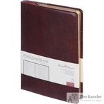 Ежедневник полудатированный Bruno Visconti Profy натуральная кожа А5 208 листов коричневый (золотистый обрез, 152x222 мм)